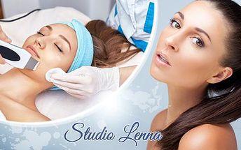 Hloubkové čištění pleti ultrazvukovou špachtlí nebo kosmetické ošetření kosmetikou Alcina v Brně.