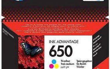 HP náplň č.650 - Barevná (CZ102AE)