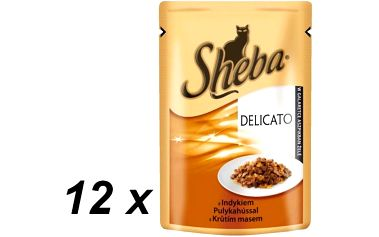 Sheba DELICATO krůťí v želé 12 x 85 g