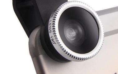 Objektiv na mobil univerzální - rybí oko (fish eye) + širokoúhlý (wide angle) + makro 02