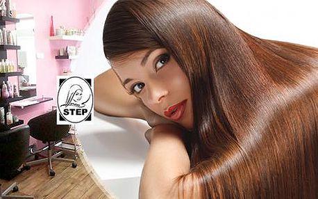 Regenerační brazilský keratin! Kúra pro hloubkovou výživu a posílení vlasů ve Studiu Step u stanice metra Můstek!