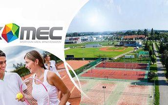 Pronájem tenisového kurtu pro 2-4 osoby ve Sportovním areálu Brno Komárov! Tenis na umělém trávníku na 2-20 hod.