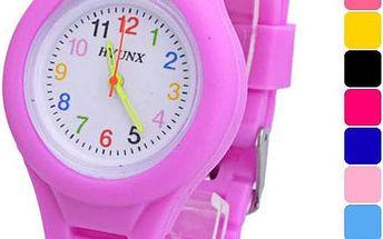 Dětské silikonové hodinky s barevnými číslicemi - více barev
