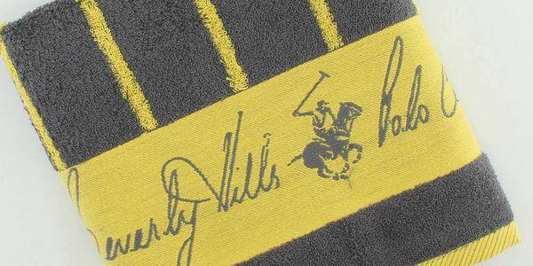 Bavlněný ručník BHPC 50x100 cm, žluté pruhy