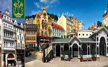 Letní Karlovy Vary 3 dny pro 2 se snídaněmi, večeří, wellness s návštěvou muzea Becherovky