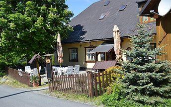 3 nebo 4denní pobyt pro 2 i rodinu s polopenzí v chatě U Jelena v Jeseníkách