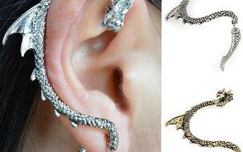 Drak - dlouhá náušnice na celé ucho