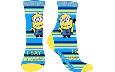 E plus M Chlapecké ponožky Mimoni - modro-žluté, EUR 27/30