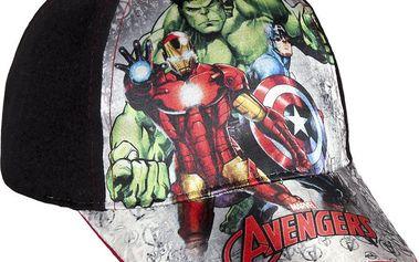 Disney Brand Chlapecká kšiltovka Avengers - černá, 54 cm