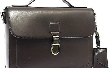 Elegantní taška přes rameno Bobby Black - kávová - doprava zdarma!