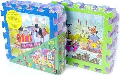 Teddies Pěnové puzzle Krteček 30x30 cm, Barevná