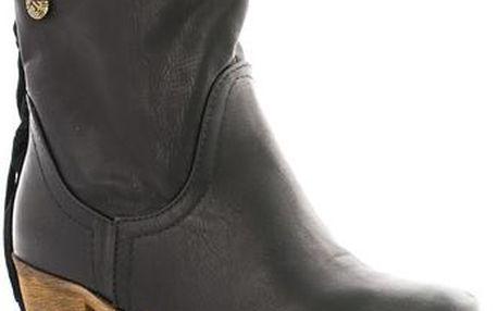 Černé dámské kovbojky 18524B 41