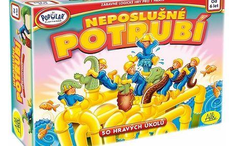 Albi Popular Neposlušné potrubí, zábavná logická hra pro jednoho hráče