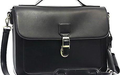 Elegantní taška přes rameno Bobby Black - černá - doprava zdarma!
