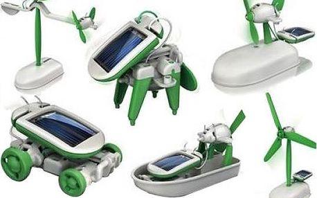 Solar bot 6 v 1 - interaktivní hračka na solární pohon