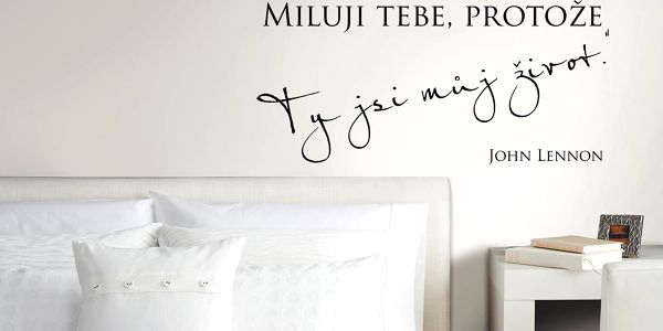 Housedecor Samolepka na zeď - Miluji život