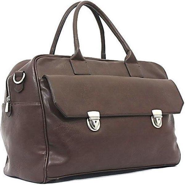 Cestovní taška Bobby Black - kávová, 45x33 cm - doprava zdarma!