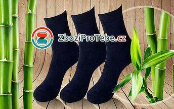 Antibakteriální bambusové ponožky - 12 párů v černé barvě ve velikosti 35-46! Absorbují pot a nepříjemný zápach.