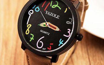 Unisex hodinky s pastelkovými ručičkami