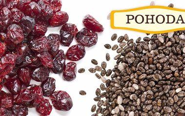Balíčky chia semínka se sušeným ovocem