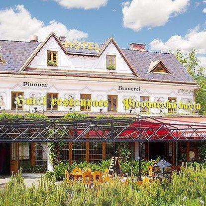 3–6denní pobyt s degustací v hotelu Pivovarská Bašta ve Vrchlabí pro 2 osoby s polopenzí