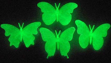 Fluorescentní motýlci na zeď - dodání do 2 dnů