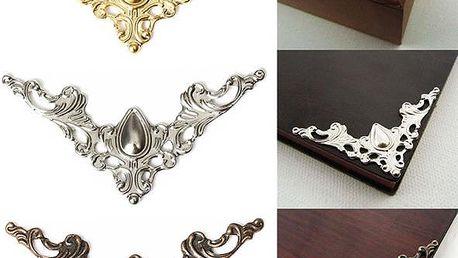 12 kusů rohové dekorace na šperkovnice či knihy - skladovka - poštovné zdarma