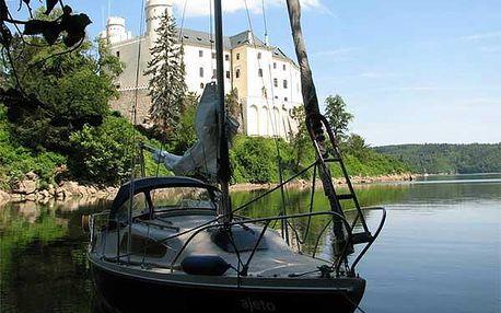 Pronájem plachetnice na Orlíku, možnost přespání