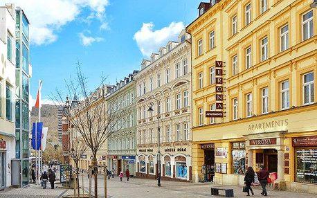 3–6denní pobyt v apartmánech Verona v centru Karlových Varů pro 2 osoby