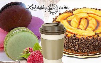 Makronka, sladký i slaný dort + káva ristretto na Karlíně