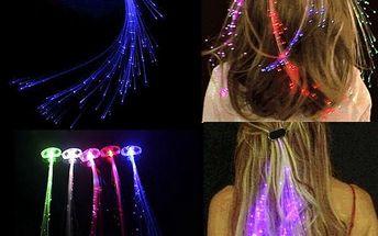1 LED svítící pramínek do vlasů