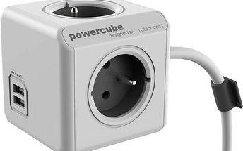 Kabel prodlužovací Powercube Extended USB 1,5m šedá/bílá + Doprava zdarma