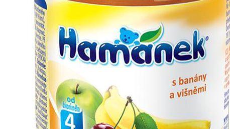 6x HAMÁNEK s višněmi a banány, 190g