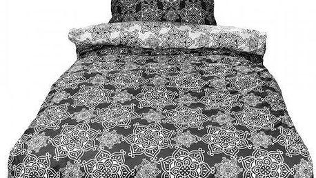 NOVIA Povlečení Lily, bavlna, 4 dílné, černá, 140x200 70x90