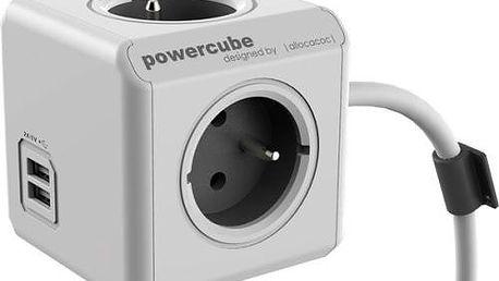Kabel prodlužovací Powercube Extended USB 1,5m šedá/bílá