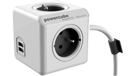 Kabel prodlužovací Powercube Extended USB šedá/bílá + Doprava zdarma