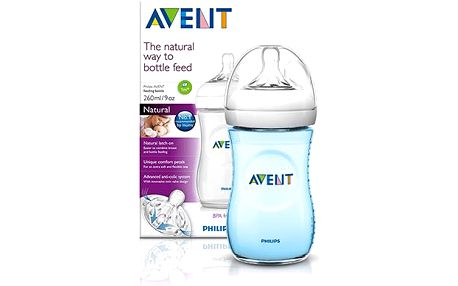 AVENT 260ml Natural PP modré