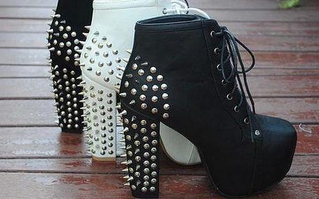 Stylové boty se cvoky - velikosti 35 - 41