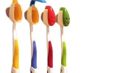 Držáček na zubní kartáčky s úsměvem