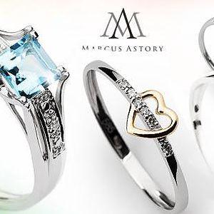 Luxusní prsteny Marcus Astory z bílého zlata včetně poštovného! Na výběr 13 typů v různých velikostech