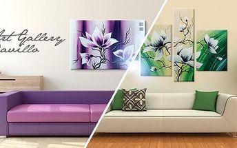 Umělecké ručně malované obrazy s různými motivy - jednodílné nebo z více dílů. Rozměr 60x40 i 140x70 cm.