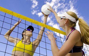 Hodinový pronájem hřiště na beach-volejbal v přírodním areálu