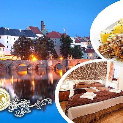 Pobyt pro dva v hotelu City*** v centru města Písek, snídaně, degustační menu, káva a zmrzlina.