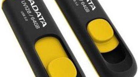 USB Flash A-Data UV128 64GB (AUV128-64G-RBY) žlutý