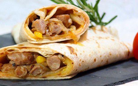 Masová dobrůtka stočená v tortille