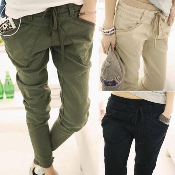 Pohodlné dámské kalhoty Chino