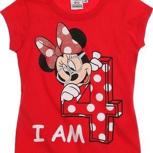 Disney Dívčí tričko Minnie - jsou mi 4, 104 cm