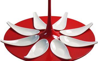 Servírovací set na jednohubky Entity Red/White