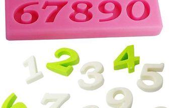 Silikonová formička s čísly - skladovka - poštovné zdarma