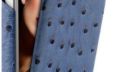 Pouzdro Puro Safari Nandu iPhone 5/5 s eko-kůže a vertikálním klipem, modré + 200 Kč za registraci + dodatečná sleva 20 %